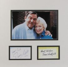 Terry Scott and June Whitfield Autograph Signed Display